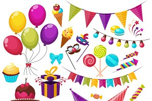 Birthday Party Icon Set