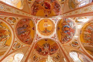 ceiling of the Orthodox Church.