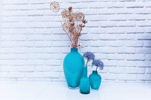 Wildflowers in a vase.