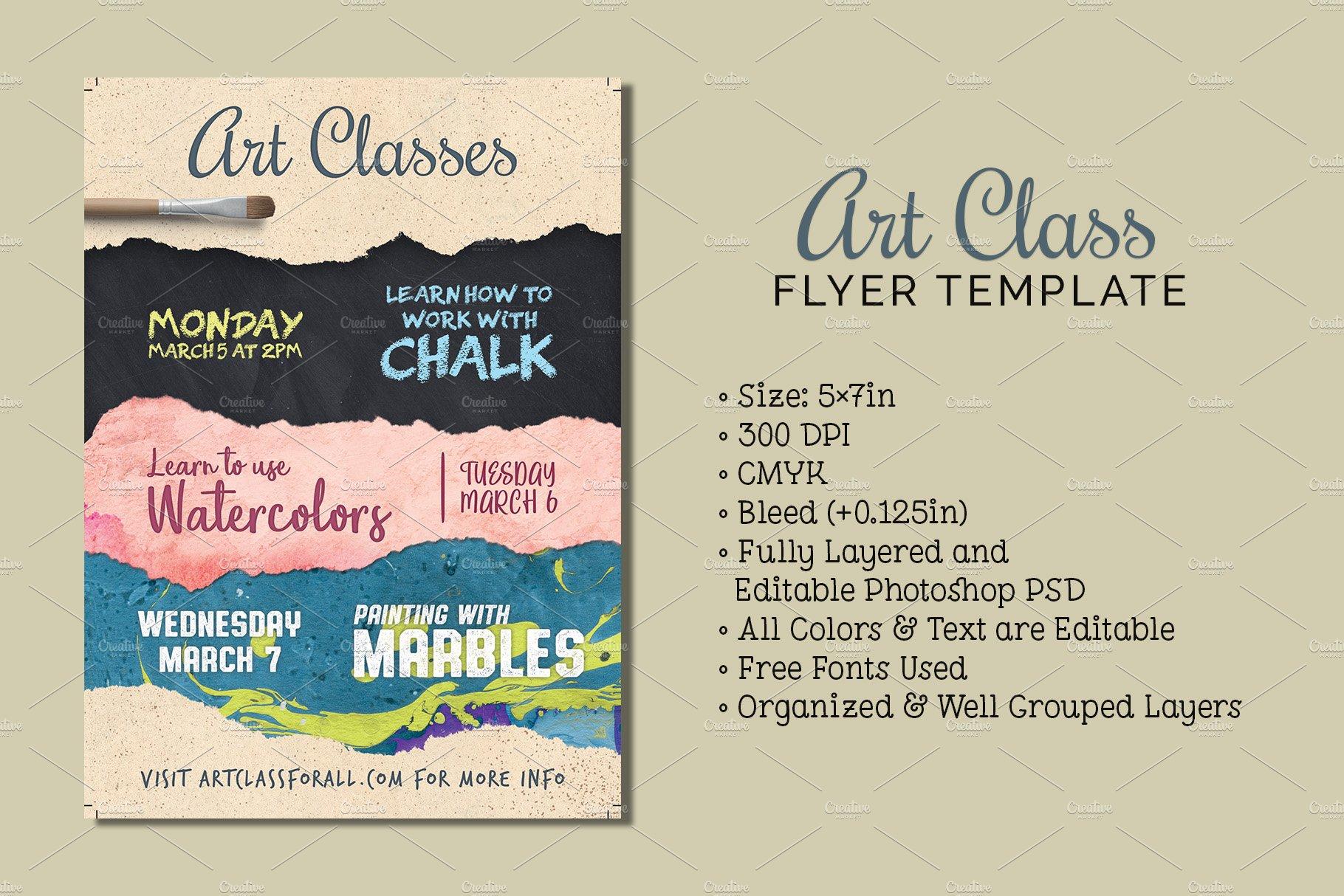 Art Class Flyer Template Flyer Templates Creative Market