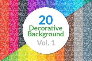 20 Decorative Background Vol. 1