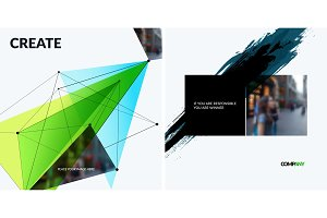 Set of abstract vector design elements for graphic template.
