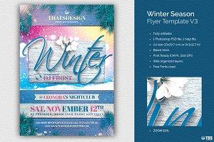 Winter Season Flyer Template V3