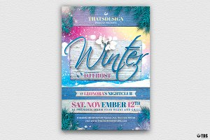 Winter Season Flyer Template V3