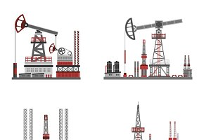 Oil and petroleum platform set