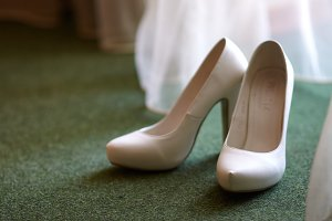 Female wedding footwear
