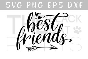 Best friends SVG DXF PNG EPS