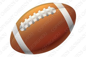 Heart Shape American Football Ball