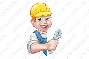 Plumber Cartoon Character