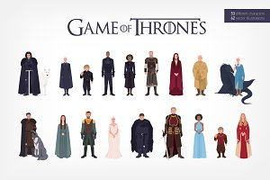 The characters of Game of Thrones