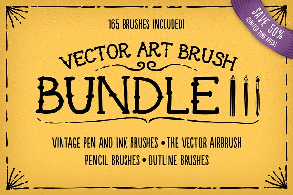 Vector Art Brush Bundle 3