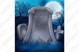 Grave Graveyard Halloween Background