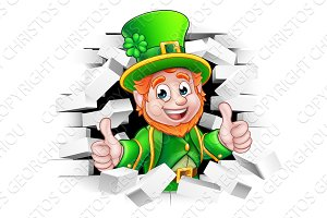 Cartoon Leprechaun St Patricks Day