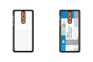 Nokia 8 2d PC Colored Mobile Case