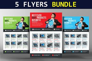 5 Clean & Creative Business Flyers