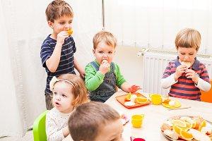 Lunch in kindergarden