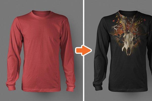 Men's Long Sleeve Shirt Mockups