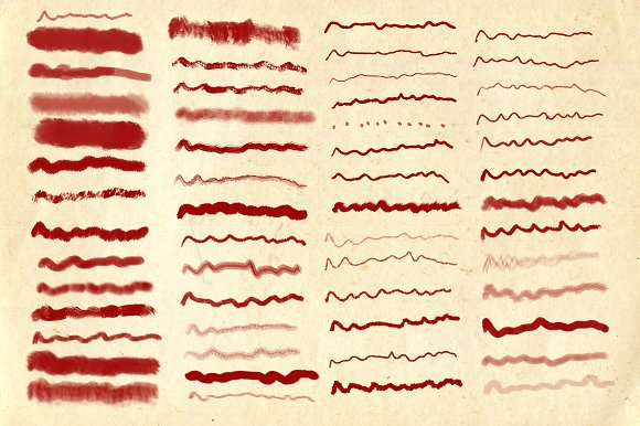 68 Dry Markers Photoshop Brushes
