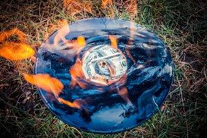 vinyl record burns