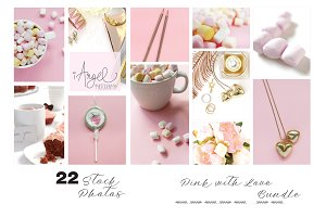 Pink with Love stock photos