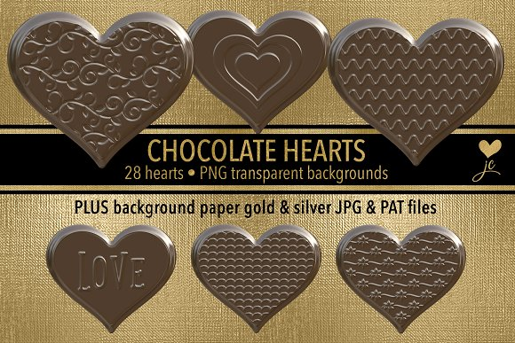 Chocolate Hearts Clipart