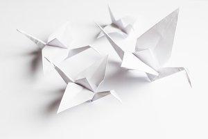 White crane handmade