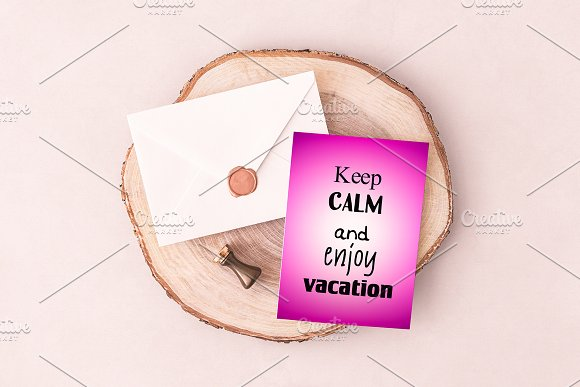 Keep calm and enjoy vacation