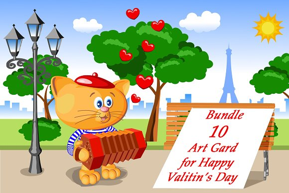 Cat And Happy Valetunes Day