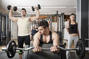 Gym people training