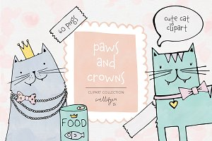 Cat clipart collection