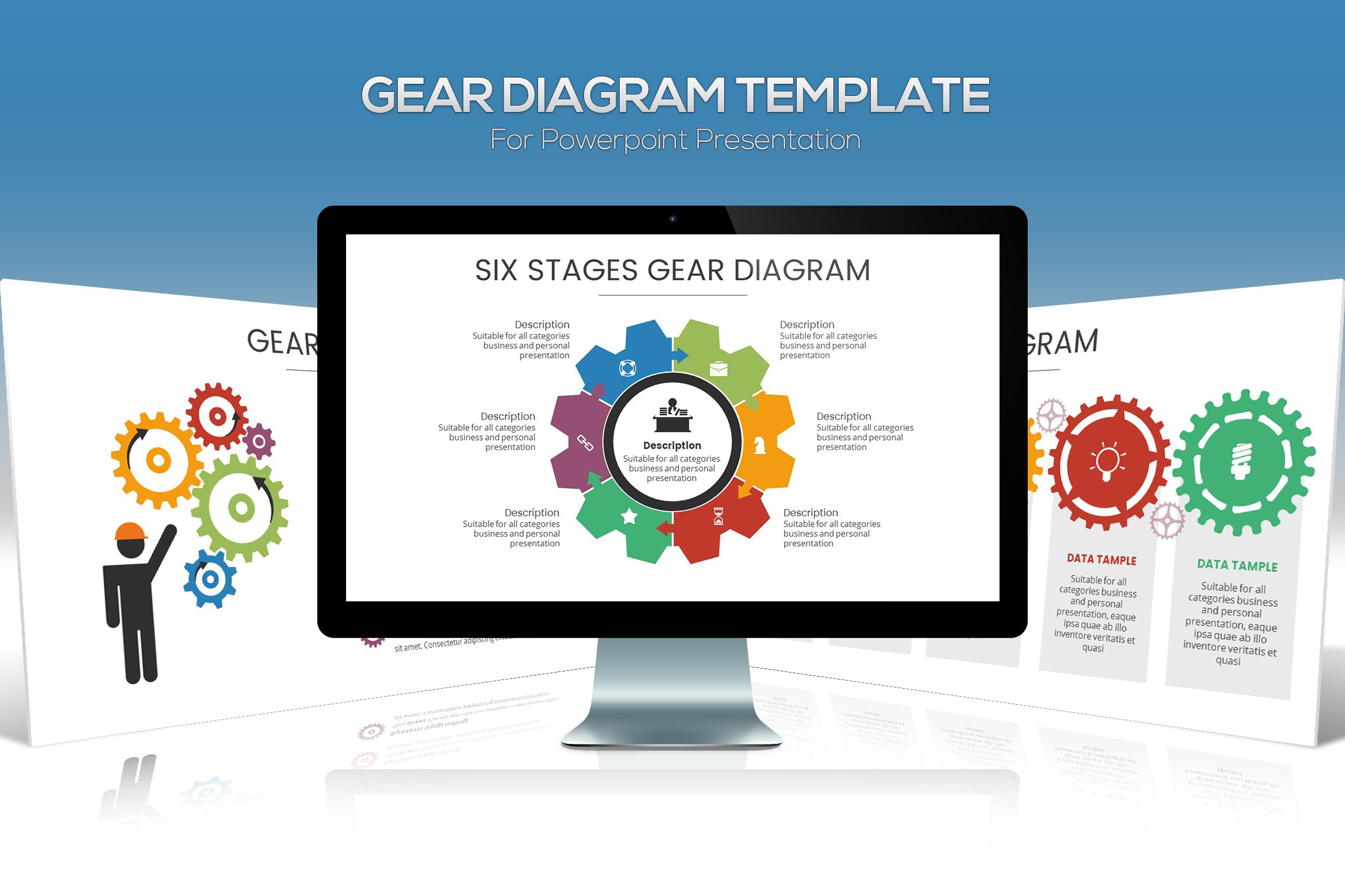 Gear diagram powerpoint template presentation templates creative gear diagram powerpoint template presentation templates creative market ccuart Images