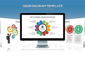 Gear Diagram Powerpoint Template