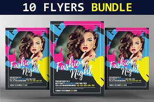 10 City Party Flyers Bundle