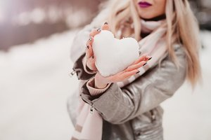 the girl keeps the snow heart
