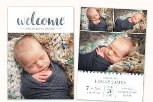 Birth Announcement Template CB122