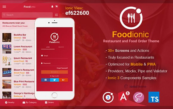 Ionic 3 Restaurant Food Order Theme
