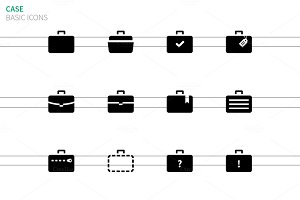 Traveling bags and Case icons