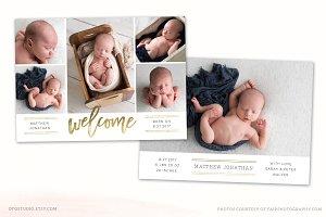Birth Announcement Template CB106