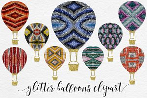 Multicolored Glitter Balloons Vol.2