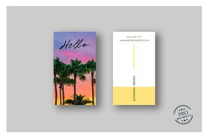 Nature colors elegant business card