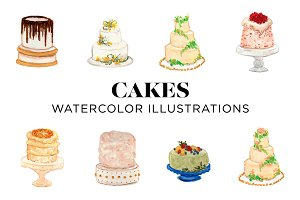 Watercolor Cakes