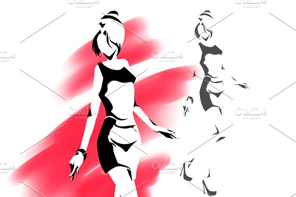 Female Silhouette Outline Drawing