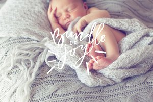 Newborn Script Photo Overlays