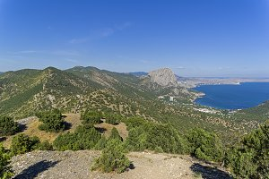 Mountains on the Black Sea coast.