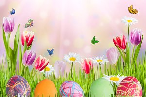 Easter Background 011
