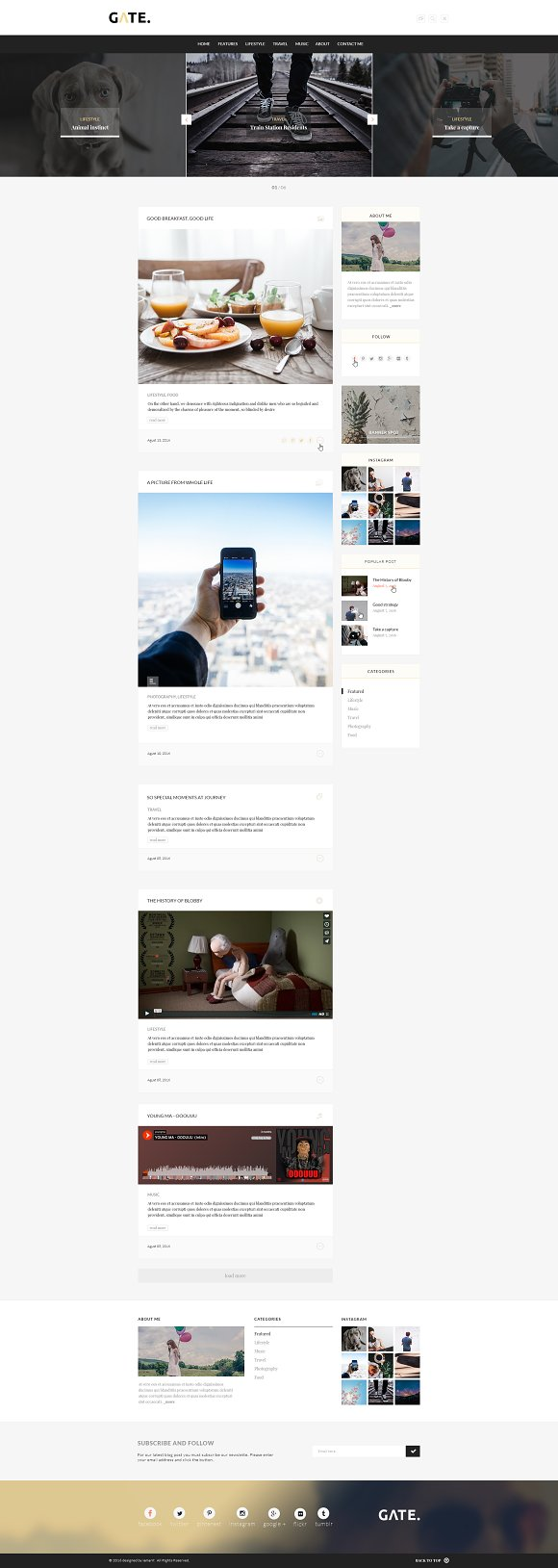 Gate A WordPress Blog Theme