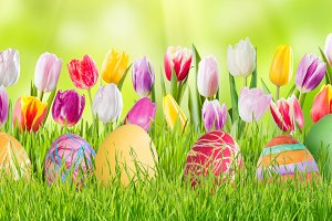 Easter background 021