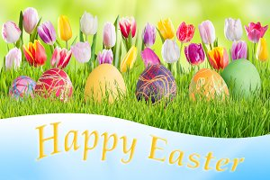 Easter background 022