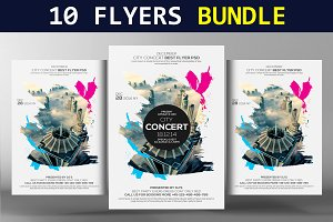 10 Summer Party Flyers Bundle