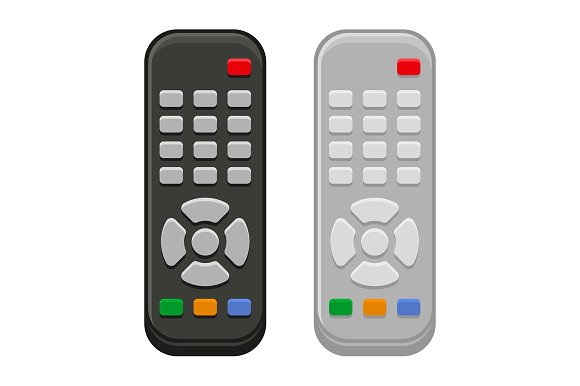 TV Remote Control And Buttons Set